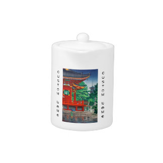 Cool japanese hasui kawase rainy day temple hanga teapot