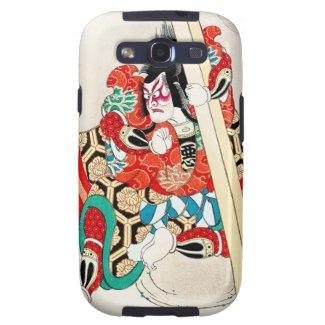 Cool japanese kabuki warrior actor samurai man art samsung galaxy SIII cover