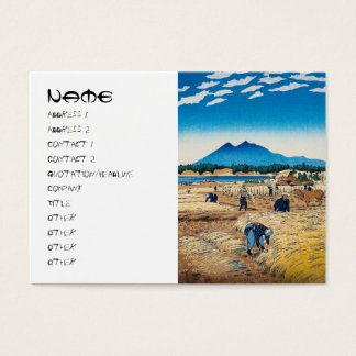 Cool japanese Kasamatsu harvest time hanga Business Card