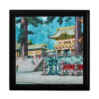 Cool japanese kawase hasui temple forest shrine keepsake box