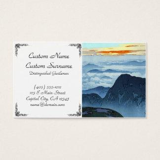 Cool japanese Kawase mountain pass cloud view Business Card