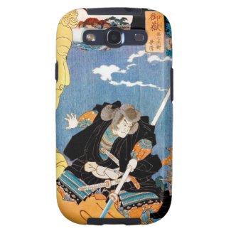 Cool japanese legendary hero warrior samurai art samsung galaxy SIII case