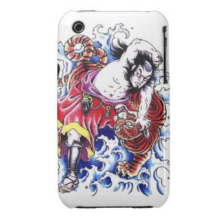 Cool japanese legendary hero warrior tiger fight iPhone 3 case