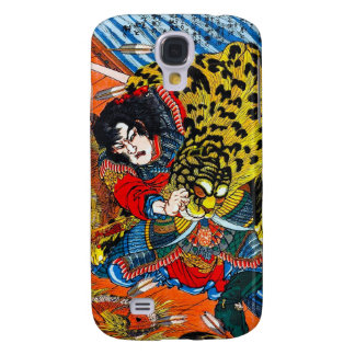 Cool japanese Legendary Hero Warrior Tiger Fight Galaxy S4 Cover