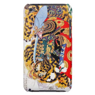Cool japanese Legendary Samurai fight tiger art iPod Touch Cases