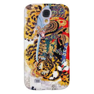 Cool japanese  Legendary Samurai fight tiger art Samsung Galaxy S4 Cover