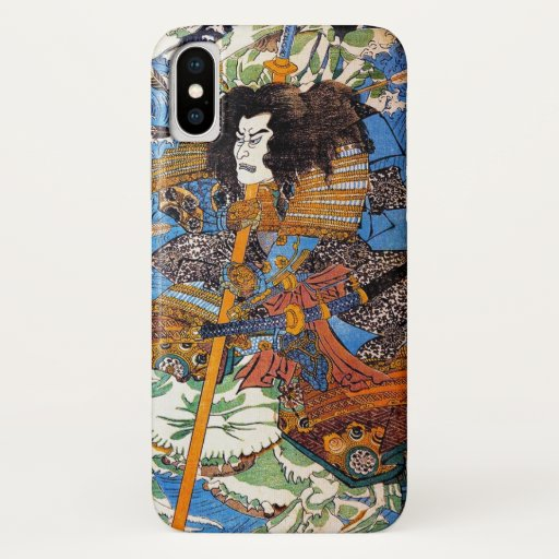 Cool japanese Legendary Samurai Sanin Warrior art iPhone X Case