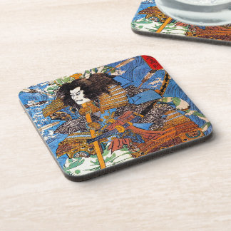 Cool japanese Legendary Samurai Sanin Warrior art Coaster