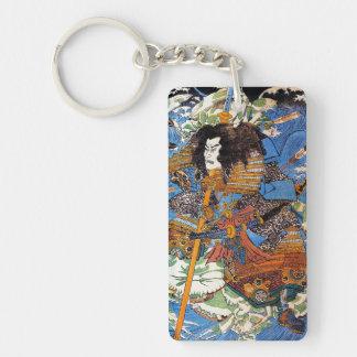 Cool japanese Legendary Samurai Sanin Warrior art Double-Sided Rectangular Acrylic Keychain