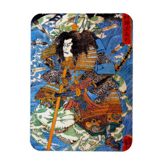Cool japanese Legendary Samurai Sanin Warrior art Magnet