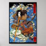 Cool japanese Legendary Samurai Sanin Warrior art Poster