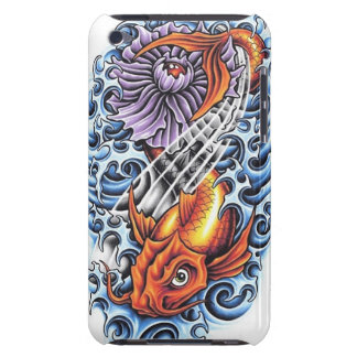Cool Japanese Lucky Koi Carp purple Lotus tattoo Barely There iPod Covers