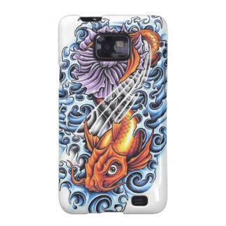 Cool Japanese Lucky Koi Carp purple Lotus tattoo Samsung Galaxy SII Cases