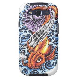 Cool Japanese Lucky Koi Carp purple Lotus tattoo Samsung Galaxy S3 Covers