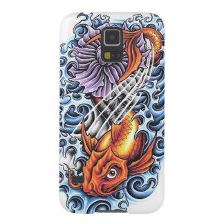 Cool Japanese Lucky Koi Carp purple Lotus tattoo Samsung Galaxy Nexus Case
