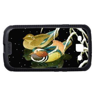 Cool japanese mandarina duck black pond snow samsung galaxy s3 covers