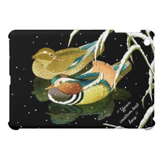 Cool japanese mandarina duck pond snow dedication cover for the iPad mini