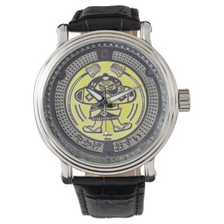 COOL JAPANESE MANHOLE COVER WATCH! WATCH