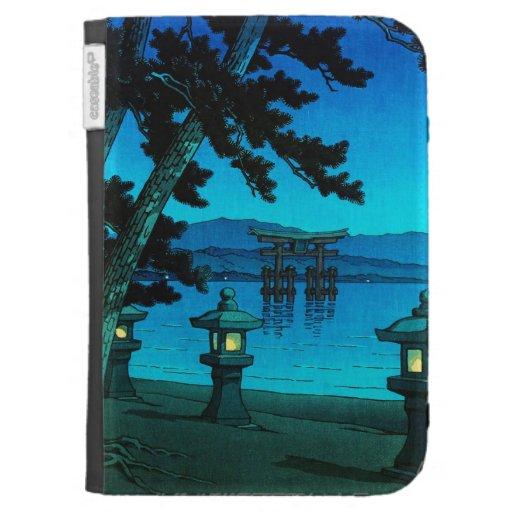 Cool japanese moonlit night gate sea hasui kawase kindle covers