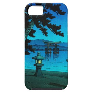 Cool japanese moonlit night gate sea hasui kawase iPhone 5 covers