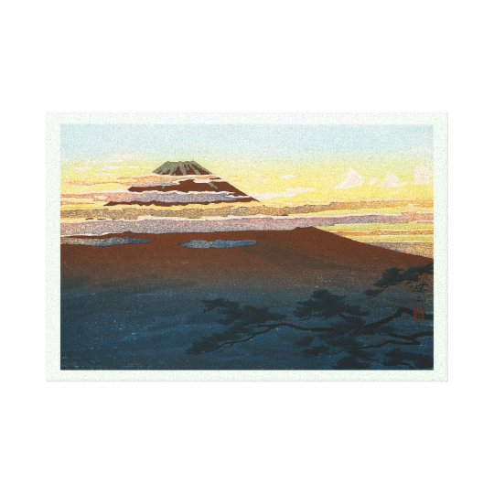 Cool japanese mountain fuji sunset clouds scenery canvas print