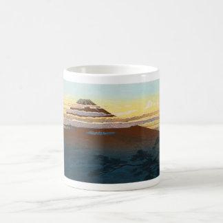 Cool japanese mountain fuji sunset clouds scenery coffee mug