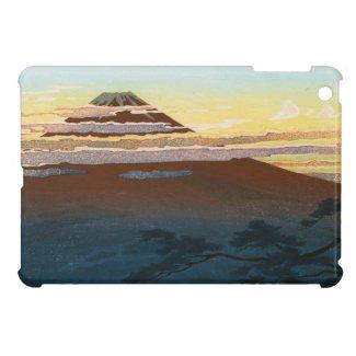 Cool japanese mountain fuji sunset clouds scenery iPad mini case