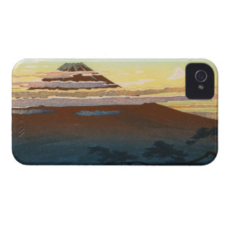 Cool japanese mountain fuji sunset clouds scenery iPhone 4 case