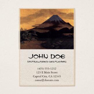 Cool japanese mountain Fuji sunshine scenery Business Card