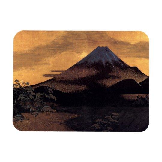 Cool japanese mountain Fuji sunshine scenery Magnet