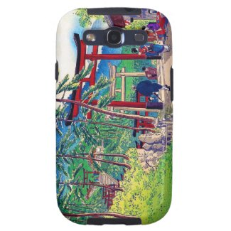 Cool japanese mountain tori gate people scenery galaxy s3 cover