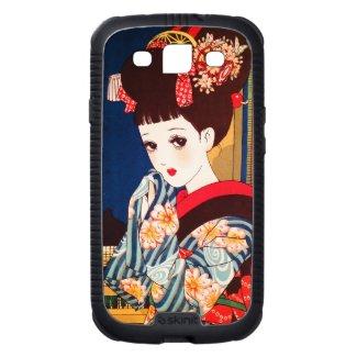 Cool japanese Nakahara tender manga lady geisha Galaxy SIII Covers