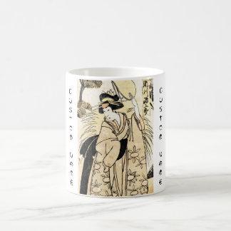 Cool japanese old vintage ukiy-o geisha tattoo coffee mug