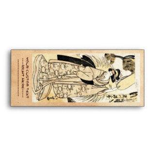 Cool japanese old vintage ukiy-o geisha tattoo envelope