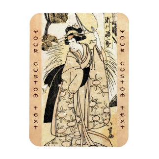 Cool japanese old vintage ukiy-o geisha tattoo rectangular photo magnet