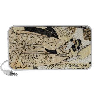 Cool japanese old vintage ukiy-o geisha tattoo iPhone speaker