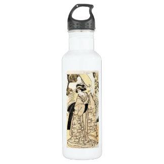 Cool japanese old vintage ukiy-o geisha tattoo stainless steel water bottle