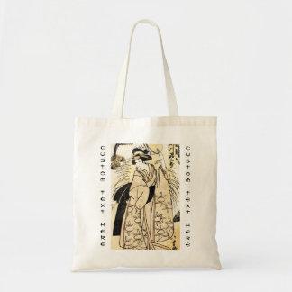 Cool japanese old vintage ukiy-o geisha tattoo tote bag