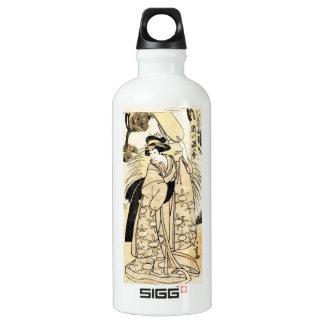 Cool japanese old vintage ukiy-o geisha tattoo water bottle