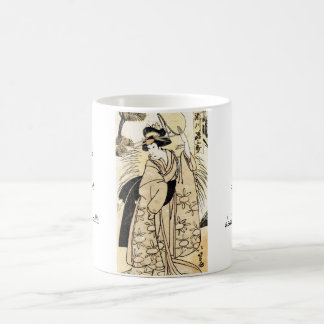 Cool japanese old vintage ukiyo-e geisha tattoo coffee mug