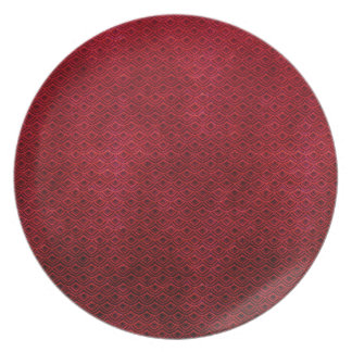 Cool japanese oriental cherry red fish scale dinner plate