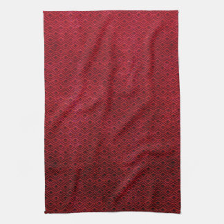 Cool japanese oriental cherry red fish scale hand towel