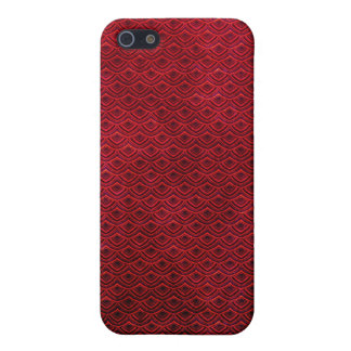 Cool japanese oriental cherry red fish scale iPhone SE/5/5s cover