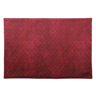 Cool japanese oriental cherry red fish scale placemat