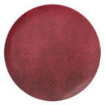 Cool japanese oriental cherry red fish scale party plate