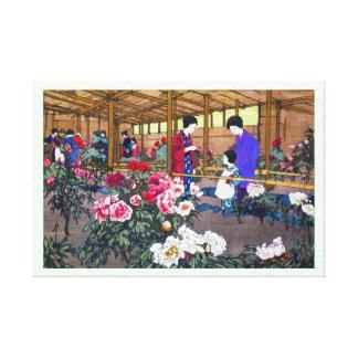 Cool japanese oriental flower garden people scene canvas print