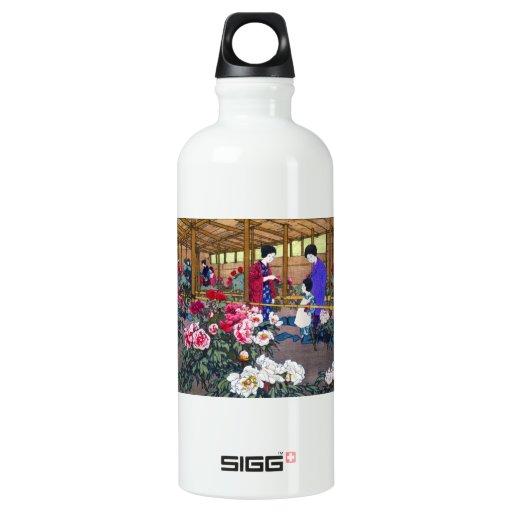 Cool japanese oriental flower garden people scene SIGG traveler 0.6L water bottle