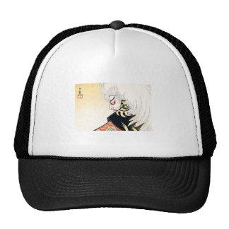 Cool Japanese Oriental Kagamijishi tattoo Mesh Hat