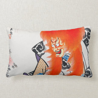 Cool japanese oriental tadamasa kabuki warrior art lumbar pillow