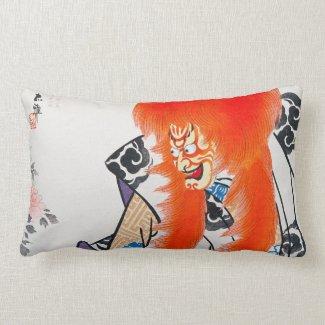 Cool japanese oriental tadamasa kabuki warrior art pillows